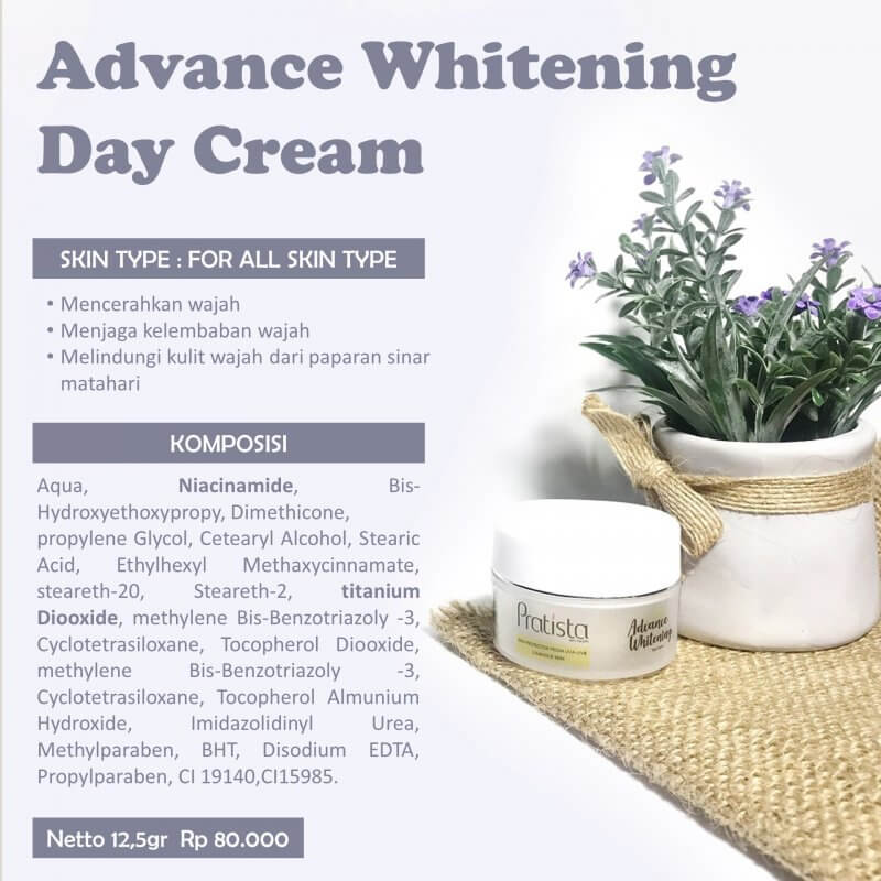 advance whitening day cream pratista